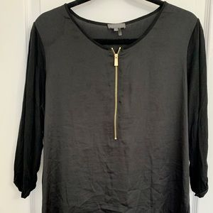 Vince Camuto Black and Long Maternity Top